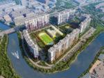ЖК «ЗимаЛето» строится на набережной реки Охты в южной части Красногвардейского района Спб