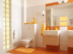 Ванная комната с дизайнерским решением