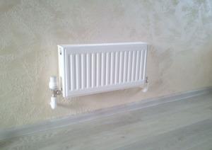 Установка радиатора отопления