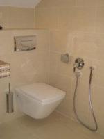 Установка гигиенического смесителя в туалете